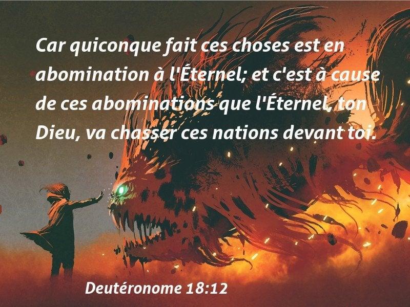 84 Versets de la Bible à propos de Abominations